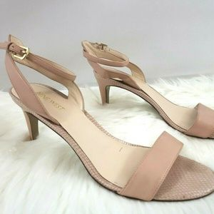 Nine West Ankle Strap Dusty Pink Heels 9